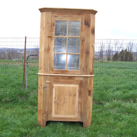 Unfinished Pine Kitchen Cabinets: 24 Reclaimed Pine Corner Cabinet Unfinished Ship FREE