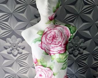 Decoupage / Paper mache Rose Floral Mannequin