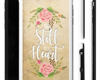 Vintage iPhone 6 Plus Case, Bible Verse iPhone Case, Scripture iPhone 6 Plus, Vintage iPhone Case, Religious iPhone Case, Be Still My Heart