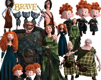 BEST collection of 130 Disney's BRAVE Clipart - 130 Brave clipart - 130 MERIDA Graphics - Logos included.