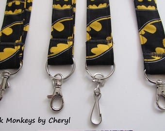 Batman Batgirl Lanyard Super Hero Comic Book Keychain