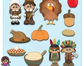 2016 Thanksgiving Clip art  Clipart Graphics  Commercial Use