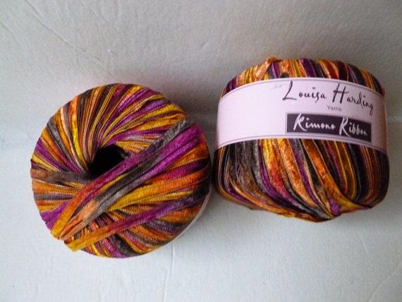 Darn Good Yarn Sari Silk Ribbon Yarn, Beautiful Handmade Recycled Vintage Sari Ribbon, 50 Yards, Teals Galore, Grams, 1 Skein by Darn Good Yarn $ $ 15