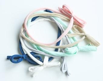 Skinny Bow Tie Headband Set - Baby Headband - Jersey Headband - Bow Headband