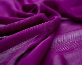 """Purple Stretch Mesh Fabric 58"""" Wide Per Yard"""
