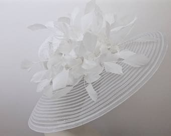 WIDE BRIM White or Black Hat Church Easter Hat