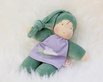 Lisel, waldorf inspired doll, cuddle doll, Babies first friend, natural toy