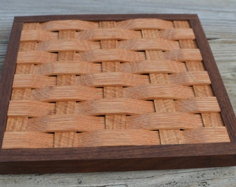 trivet, cooling rack,wall decoration oak with Walnut wood frame