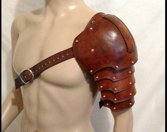 Medieval Leather Pauldron