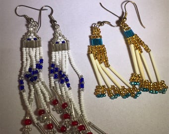 Pair Native Beaded Earrings
