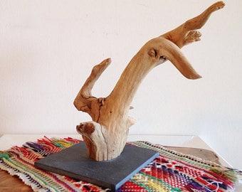 Strange Driftwood and Slate Art or Display