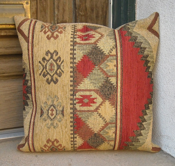 Southwestern Pillow Covers 24 X 24 : Southwestern Pillow Cover 16 x16 to 24 x 24. Soft rich and