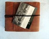 Leather scrapbook, leather album, photo album