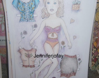 Shayla Paper Doll Set