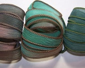 3 Pack Special Sale/Silk Ribbons/Hand Dyed/Wrist Wraps/Sassy Silks/Ready to Ship/ See Description for Details/101-0415
