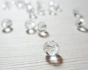 Swarovski Crystal 5025 Faceted Round Bead 6mm Clear Crystal - 12 BEADS