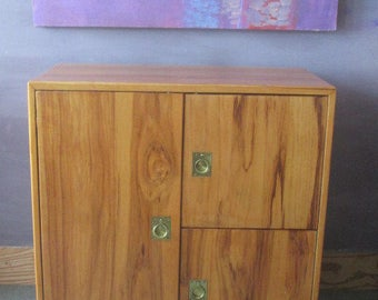 Cabinet / Small Cabinet / Handmade / Pecan Cabinet /Wood Cabinet / Mid Century Cabinet /Artisan Made / Hardwood / Side Cabinet/Wood Cabinet