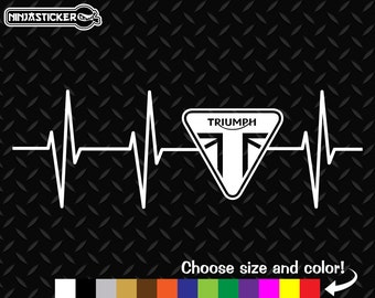Triumph EKG Heartbeat Vinyl Decal