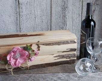 Wood Wine box/Wine rustic box/Wedding wine box/Custom wine box/First fight box/Wine box ceremony/Anniversary gift/Time capsule/Shower gift/