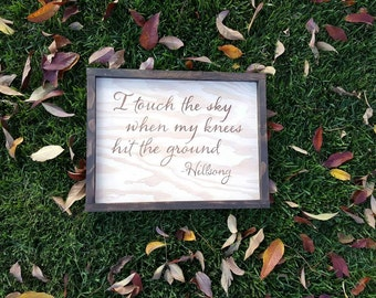 Hillsong Touch the Sky, Handmade Wood Sign