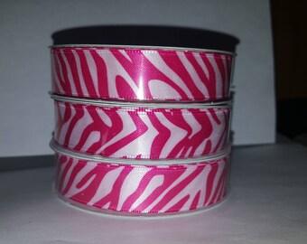 Pink Zebra Ribbon