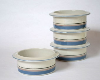 Arabia Finland Uhtua Soup / Salad / Fruit Bowls Set of 4 Made in Finland