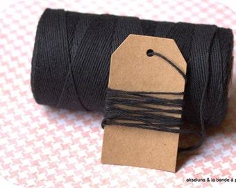 Twine Baker's Twine monochrome fine - black - 10 m ep.1mm