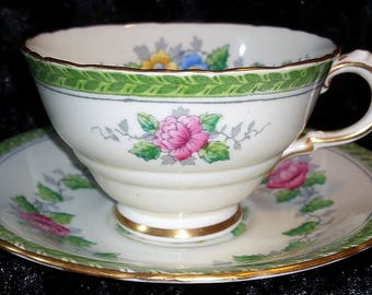 Demitasse cup and saucer Delphine China Rosemary