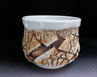 ChingWenArts porcelain Japanese Tea Bowl chawan,yunomi,sake cup,bourbon bowl,# E162