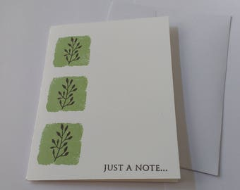 Just A Note Cards (Set of 5)