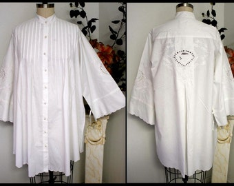 Oversized Shirt, Embroidered Shirt, Plus size shirt, Cotton Shirt, Embroidered Shirt, with details XL TO 5XL, Sleep wear, Sleep top.