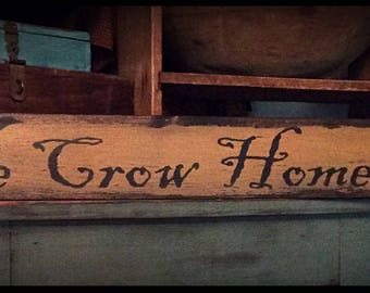 Grubby prim sign-Olde Crow Homestead