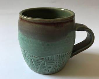 Textured Green Mug