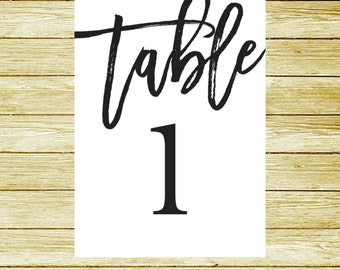 Modern Table Numbers - Wedding Reception Signs - Table Numbers - Seating Assignments - Wedding Planning - Seating Table Numbers