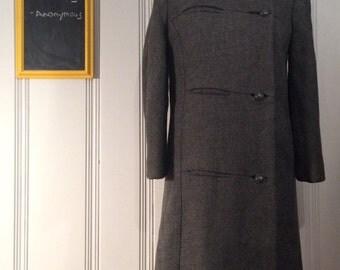1950's Tweed Coat with Fur Trim
