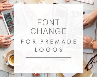 Font change Logo Add-On