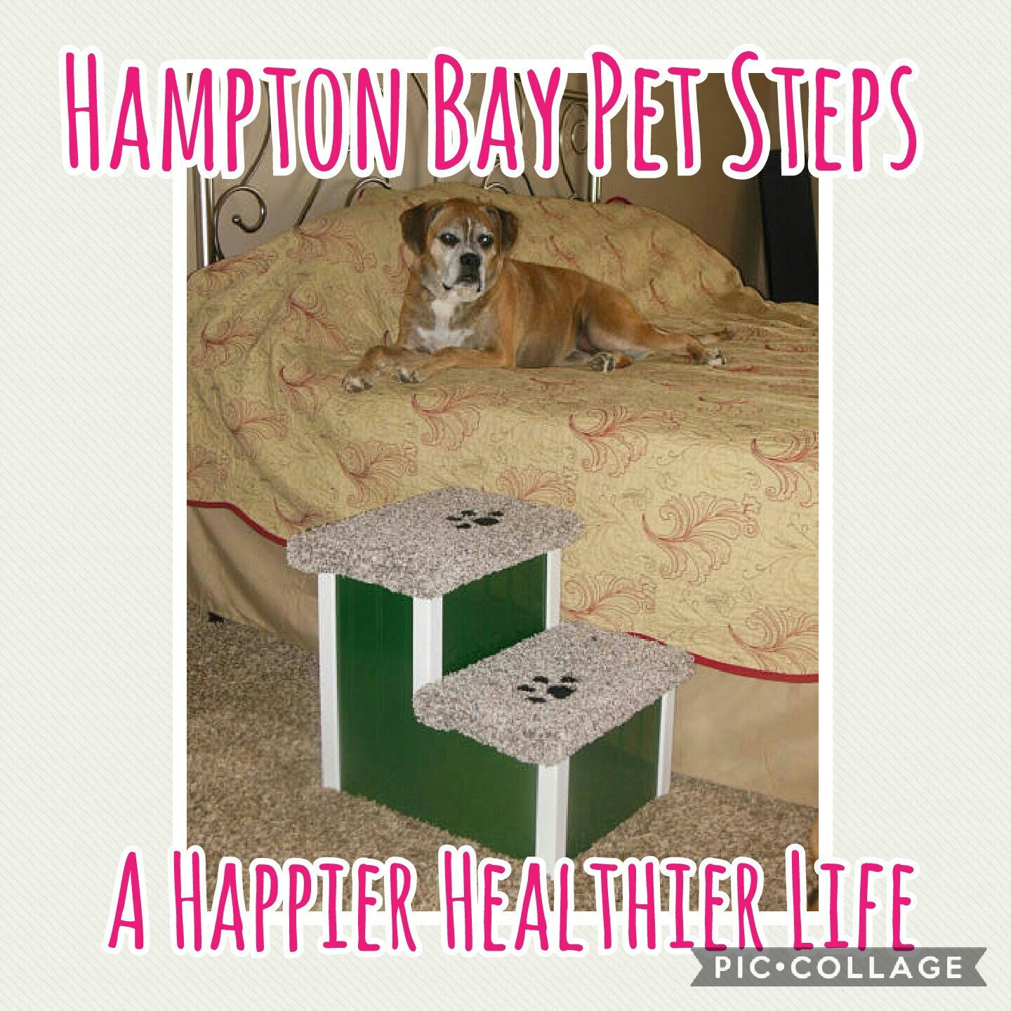Steps For High Beds Part - 48: Pet Stairs, Doggie Steps For Beds, Pet Steps For Dogs, Handmade In USA, 15  High Dog Stairs, Dog Bed Steps, Puppy Stairs For Dog Lovers