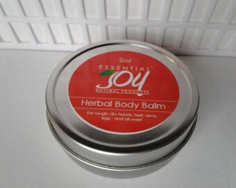Herbal Body Balm, Lip Balm,  With Calendula, With Cocoa Butter, Sensitive Skin care, Softening, Gift for Him or Her