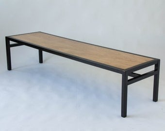 Coffee Table with Ebonized Frame