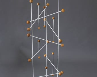 French Modern Three-Sided Coat Rack or Display