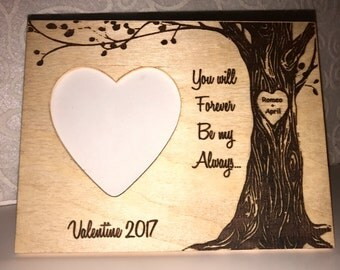 Personalized Couple's Frame Valentine Gift With Your Names Engraved