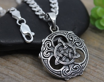 Mens trinity Necklace, unisex Sterling Silver Trinity Knot Necklace, Mens Irish celtic Pendant Jewelry, Celtic jewelry, choose chain, L064