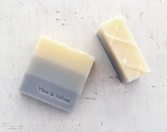 Poet Soap (VELVET) Petitgrain, Sandalwood, Rosewood & Bergamot - Chamomile, Sesame and Kaolin Clay Soap