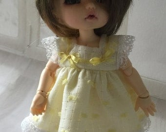 BJD Pukifee/ Lati yellow 16cm doll dress and pants