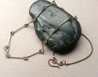 Brass Chain Minimalist Necklace, Brass Ball Chain, Handmade Chain, Modern Minimalist Jewelry, Simple Elegant Accessory, Casual Boho Layering