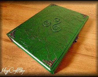 MAGICAL TRISKELL book of shadows or diary - BIG size 12.2x8.7 inches/31x22 cm - Customizable