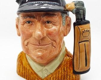 "Original Ceramic Royal Doulton Toby Character Jug The ""Golfer"" Large Size"