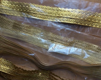 Vintage Embossed Decoupage Gold Trims & Borders