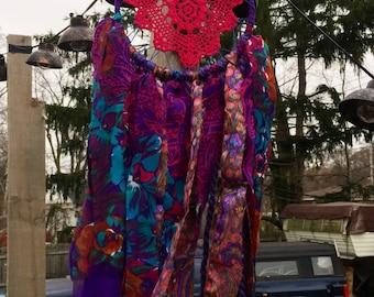 vibrant pink and purple medium dreamcatcher