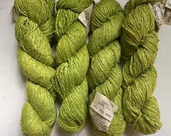60% Off Silk Tibet Baby Yeti Himalayan Yarn Lime Single Ply Handspun Bulky 90 Yards 100 Grams
